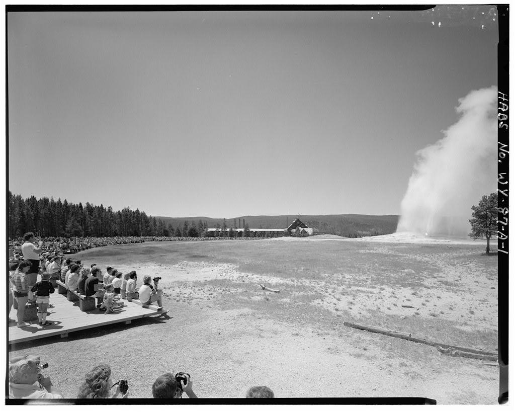 Rustic Facade of Yellowstone's incredible 1903 Old Faithful Inn.
