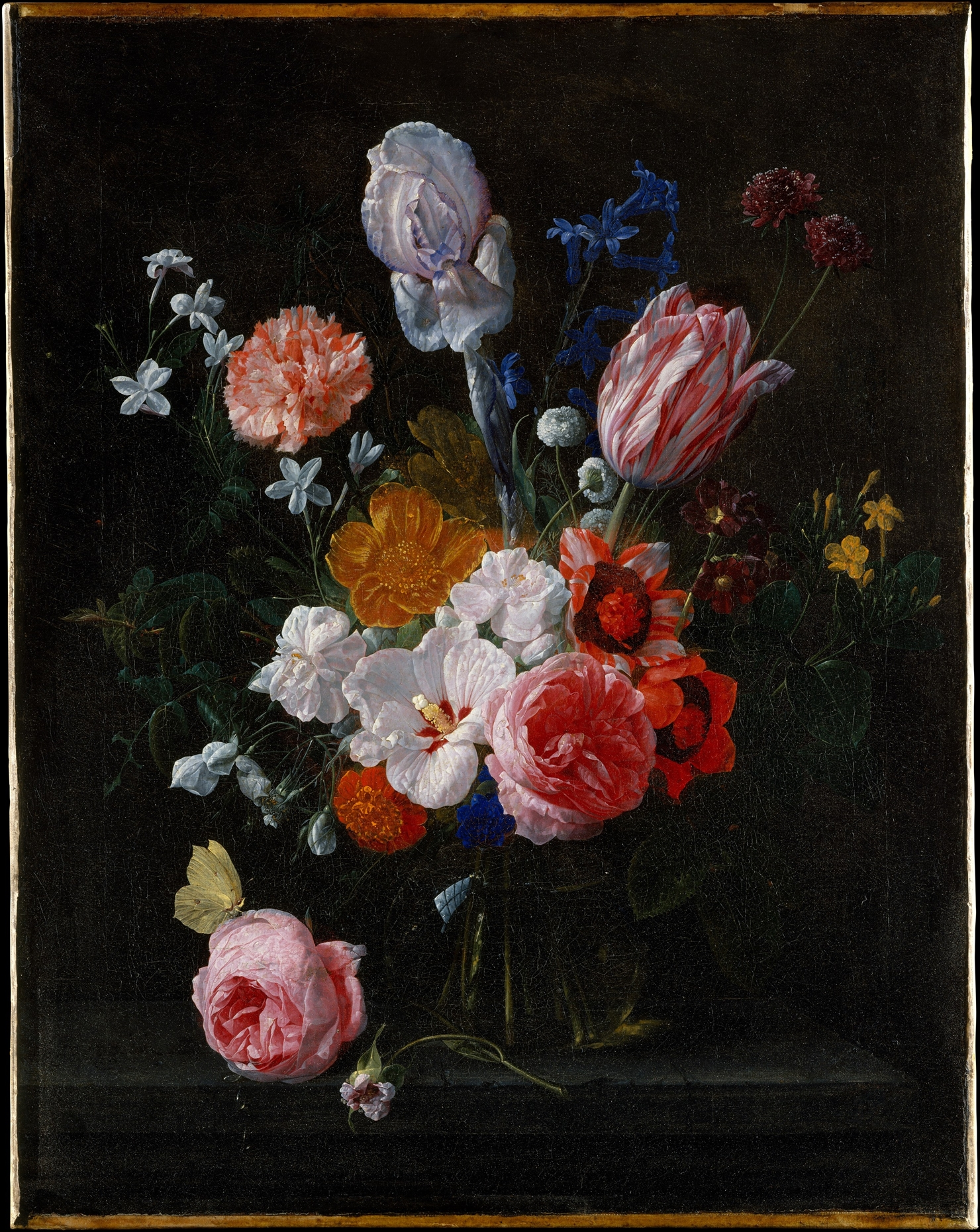 Nicolaes Van Veerendael Bouquet Of Flowers In A Crystal