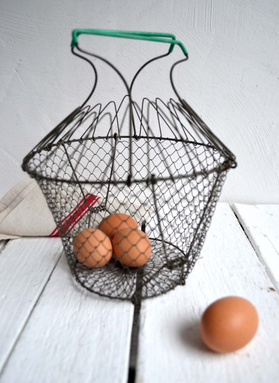 3x Vintage French Wire Egg Baskets – Classics.Life