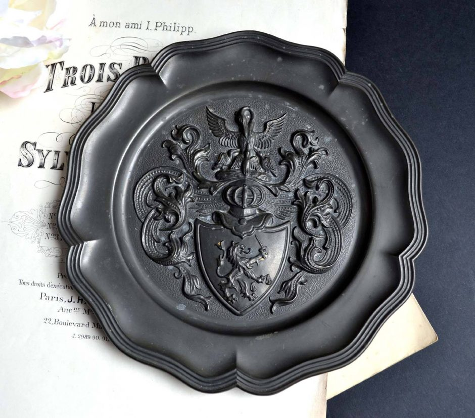 3x Antique French Pewter Plates & 3x Antique French Pewter Plates u2013 Classics.Life