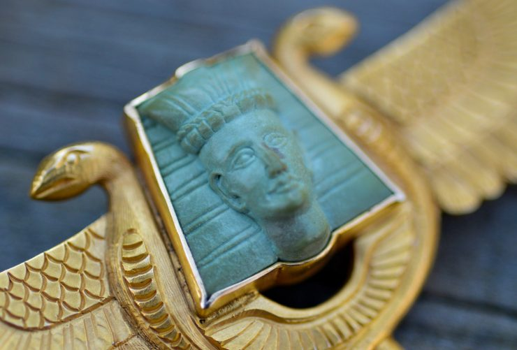 Antique Art Deco Egyptian Revival Brooch Jewelry