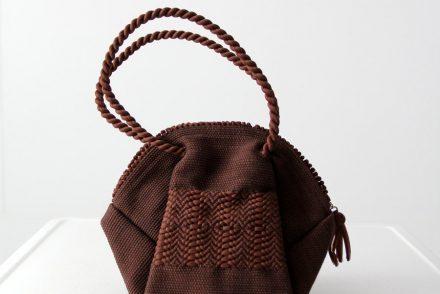 Vintage Brown 1940s Corde Handbag