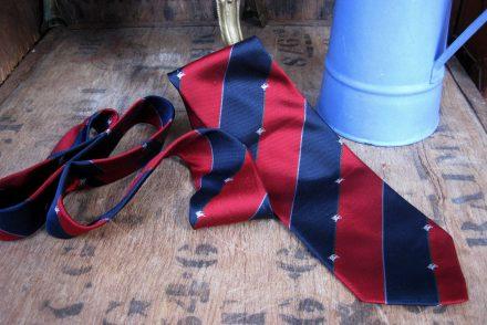 Vintage Burberry Rep Stripe Tie