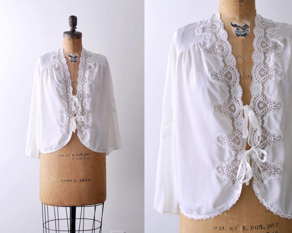 Vintage Lace Bed Jacket