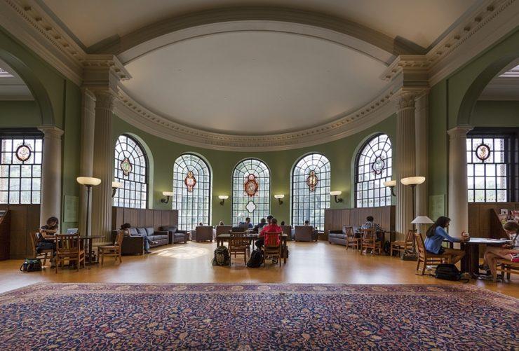 Beautiful Georgian revival Hutzler Reading Room inside Gilman Hall.