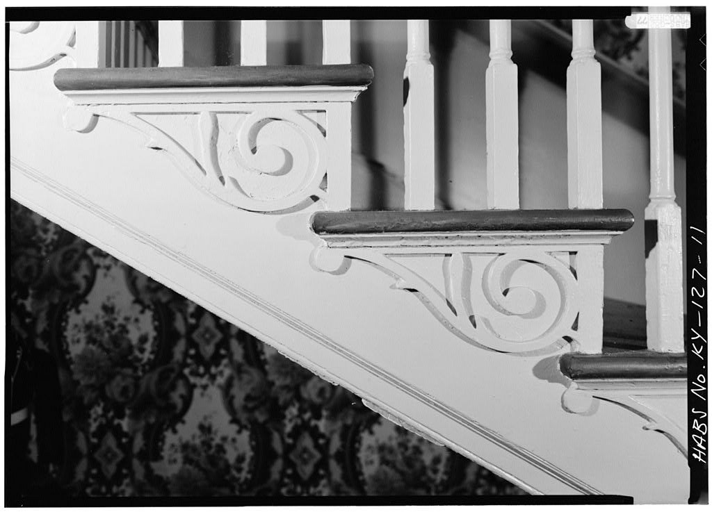 Marshall Key House Historic Federal Style Carved Staircase Treads