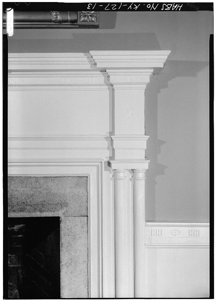 Marshall Key House Historic Federal Style Fireplace Carving Detail