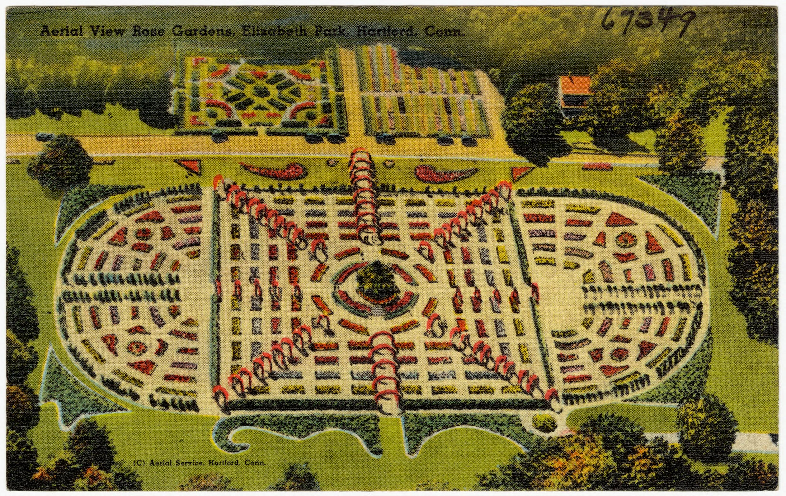 Plan of Elizabeth Park Rose Gardens.