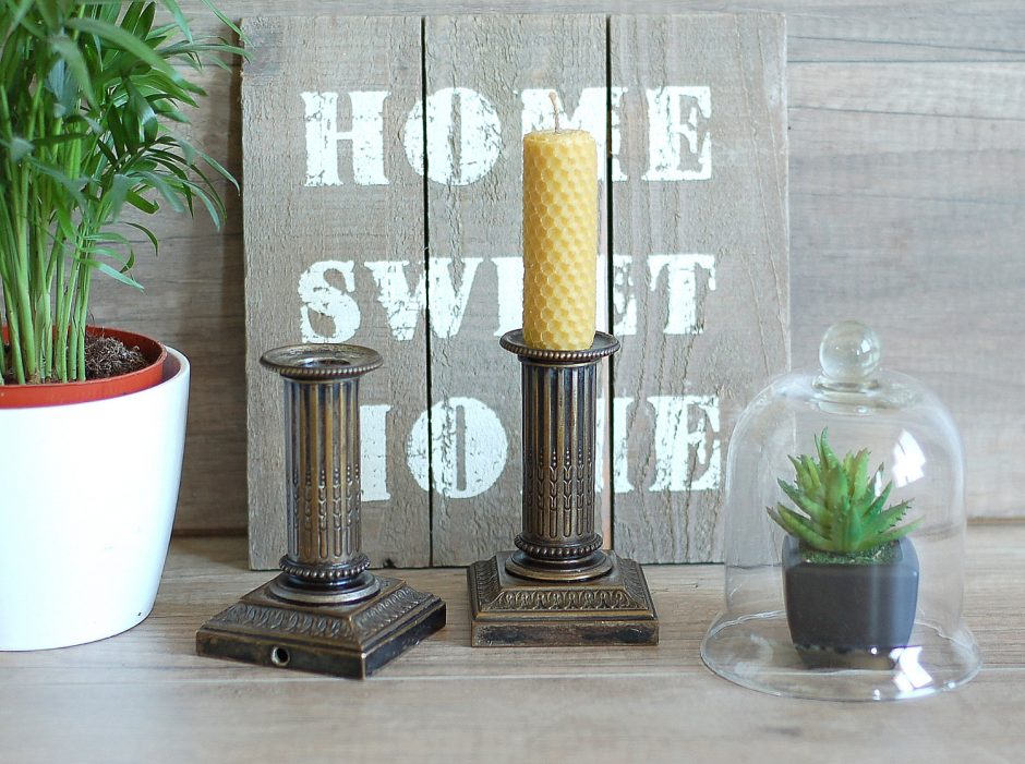 Antique Bronze Candlesticks