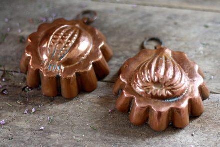 Antique Copper Fig Pudding Mold