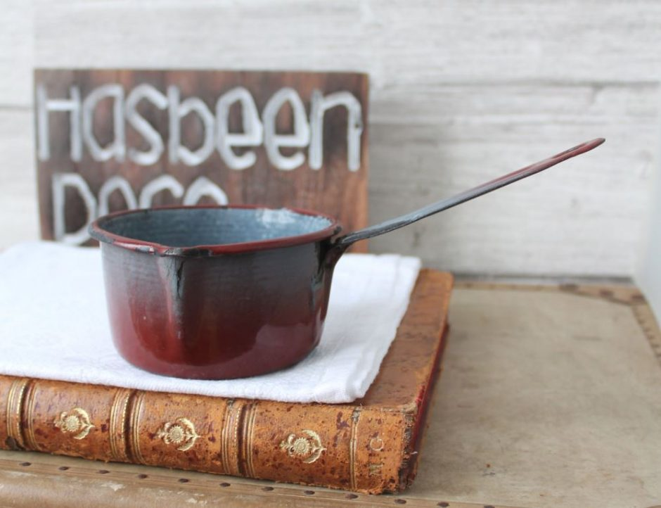 Antique Enamelware Pan