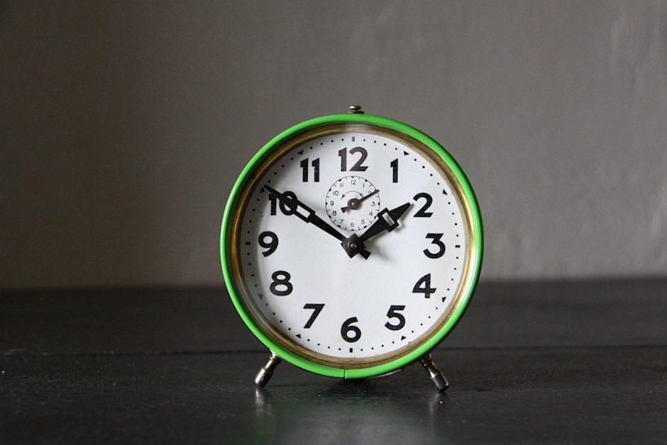 Antique French Deco Alarm Clock