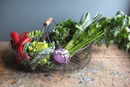 Antique French Wire Market Basket