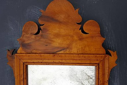 Antique Maple Mirror