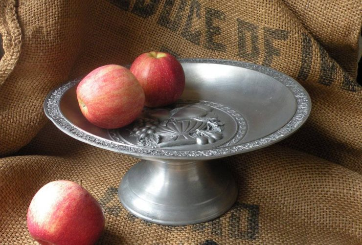 Antique Pewter Cake Stand