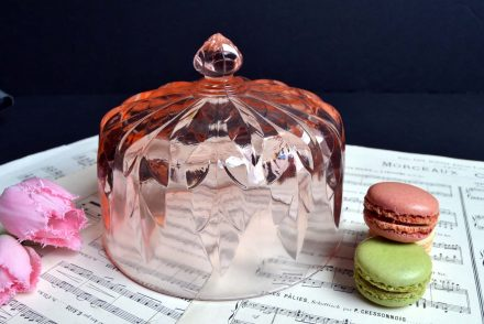 Antique Rose Glass Dome Cloche