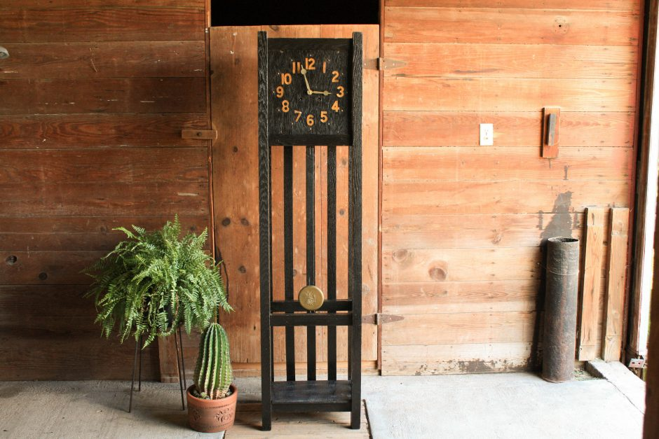 Antique Stickley Mission Style Grandfather Clock