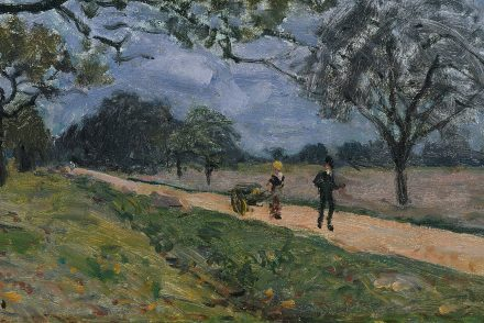 Impressionist Painting Road from Versailles to Louveciennes