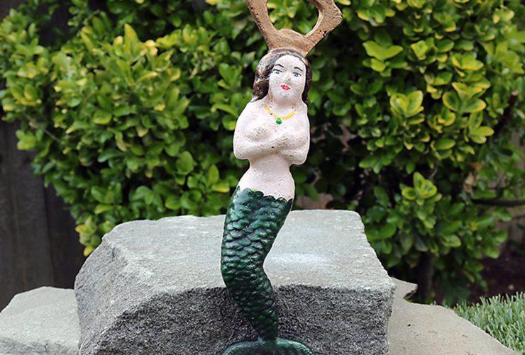 Vintage Cast Iron Mermaid Novelty Bottle Opener
