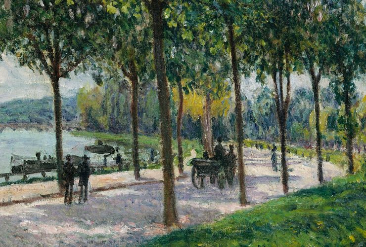 Alfred Sisley's Allée of Chestnut Trees
