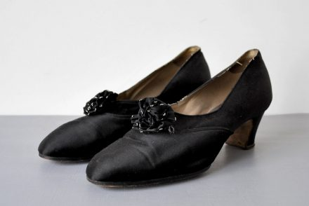 Antique Flapper Art Deco 1920's Heels Shoes